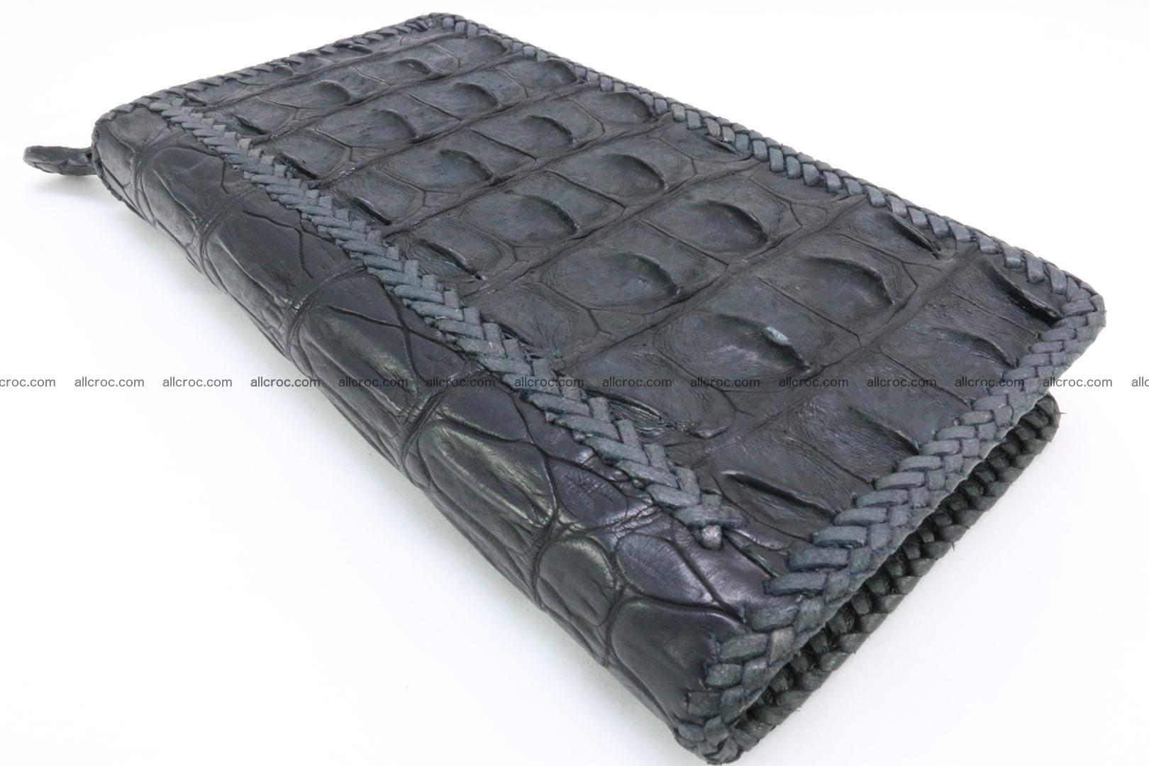 Genuine crocodile hornback wallet with zip 099 Foto 7