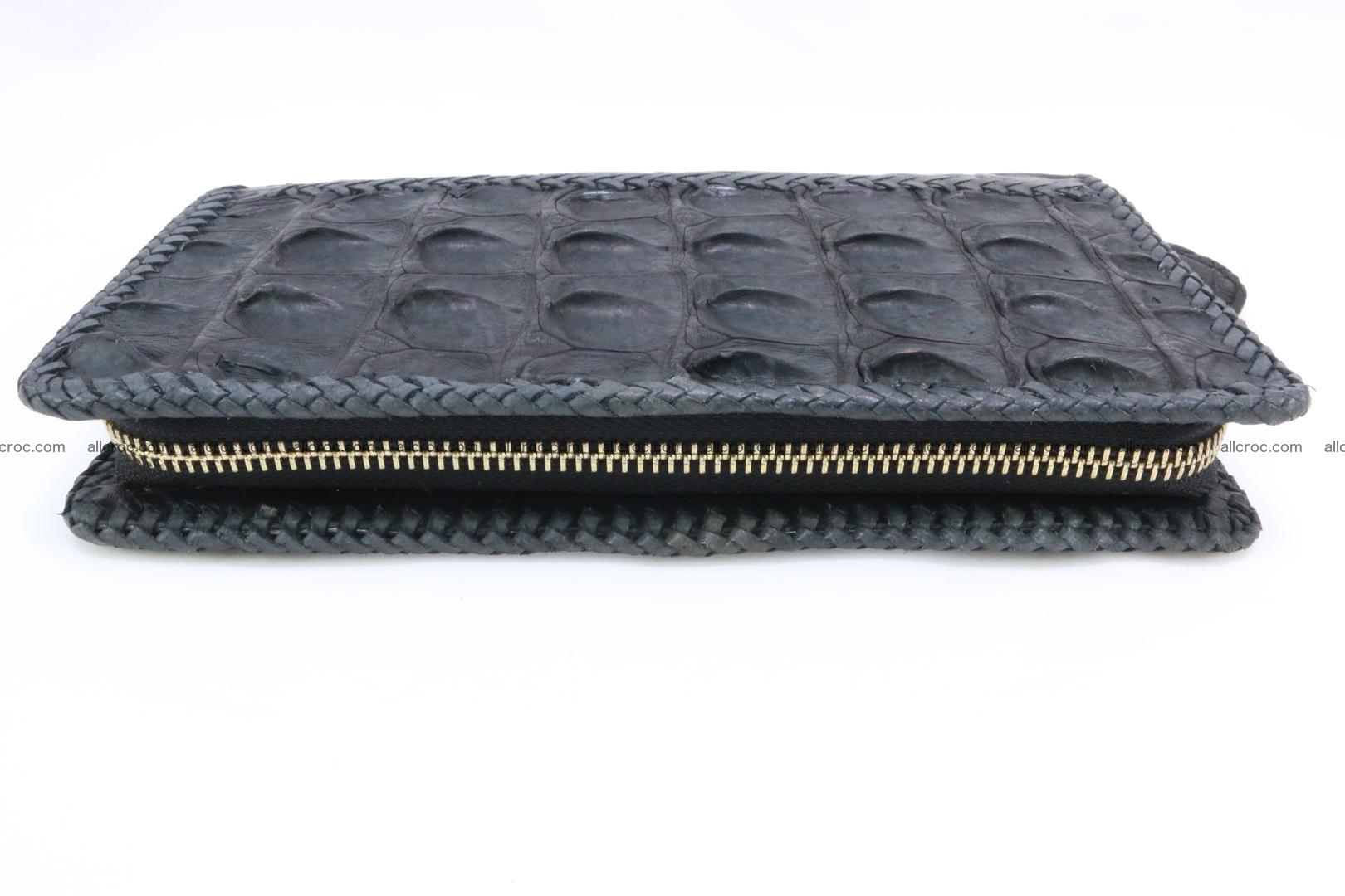 Genuine crocodile hornback wallet with zip 099 Foto 6
