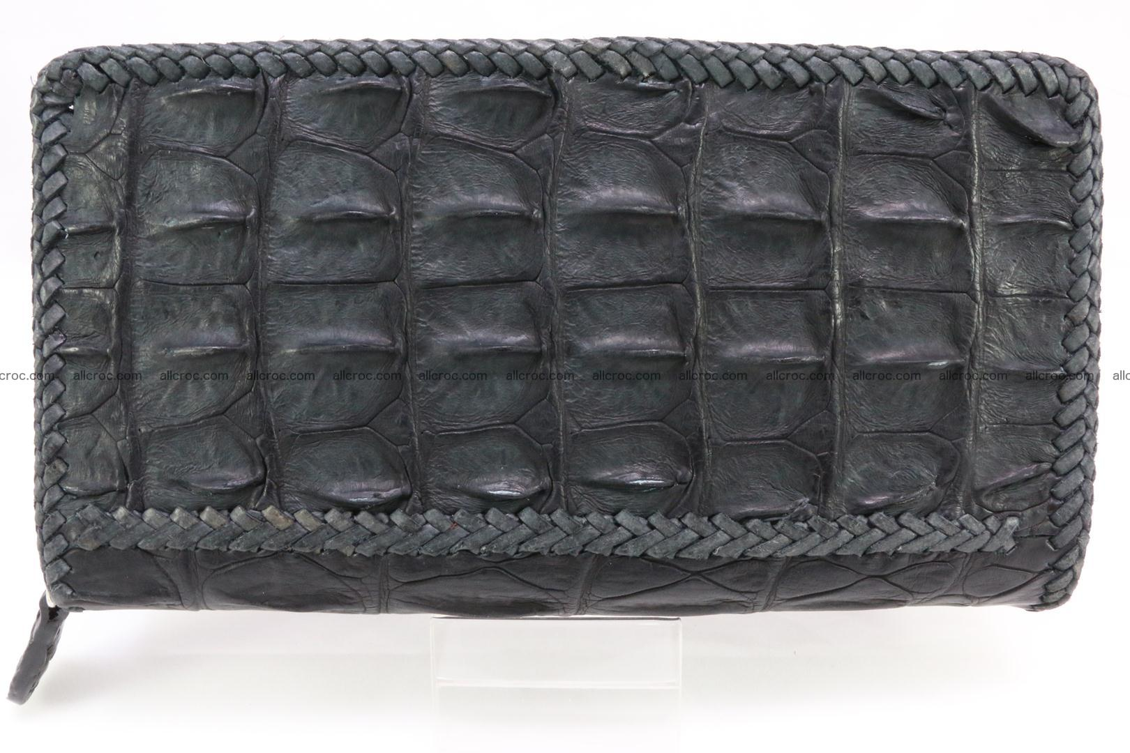 Genuine crocodile hornback wallet with zip 099 Foto 1