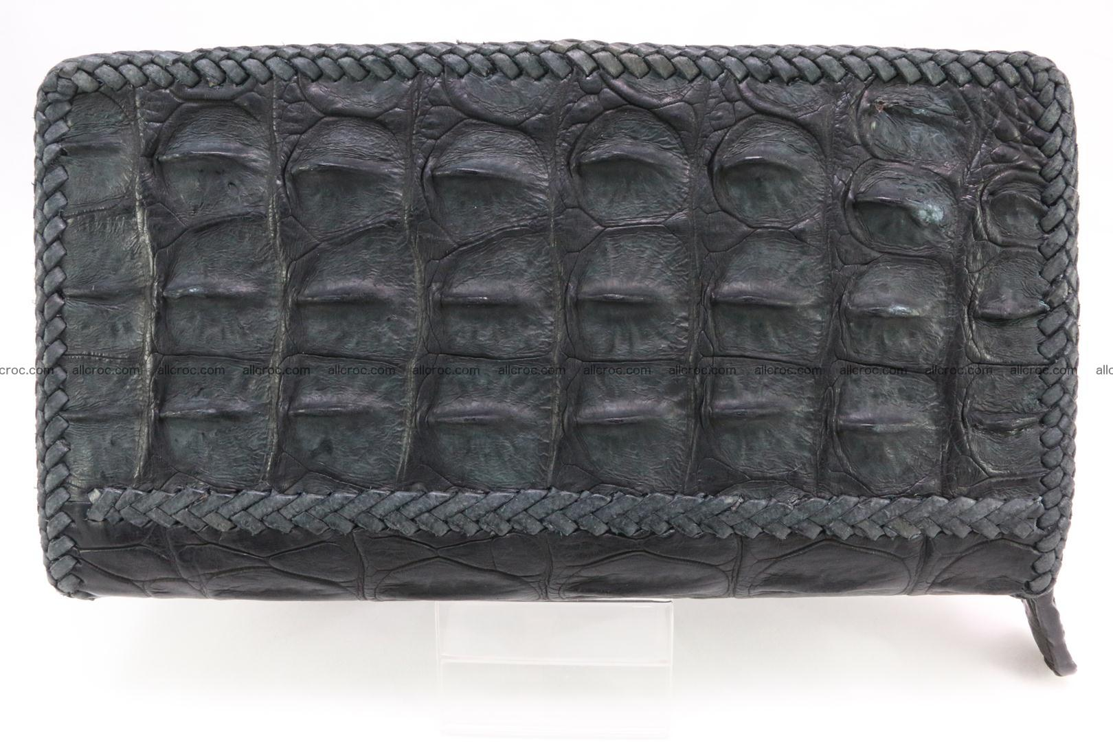 Genuine crocodile hornback wallet with zip 099 Foto 2