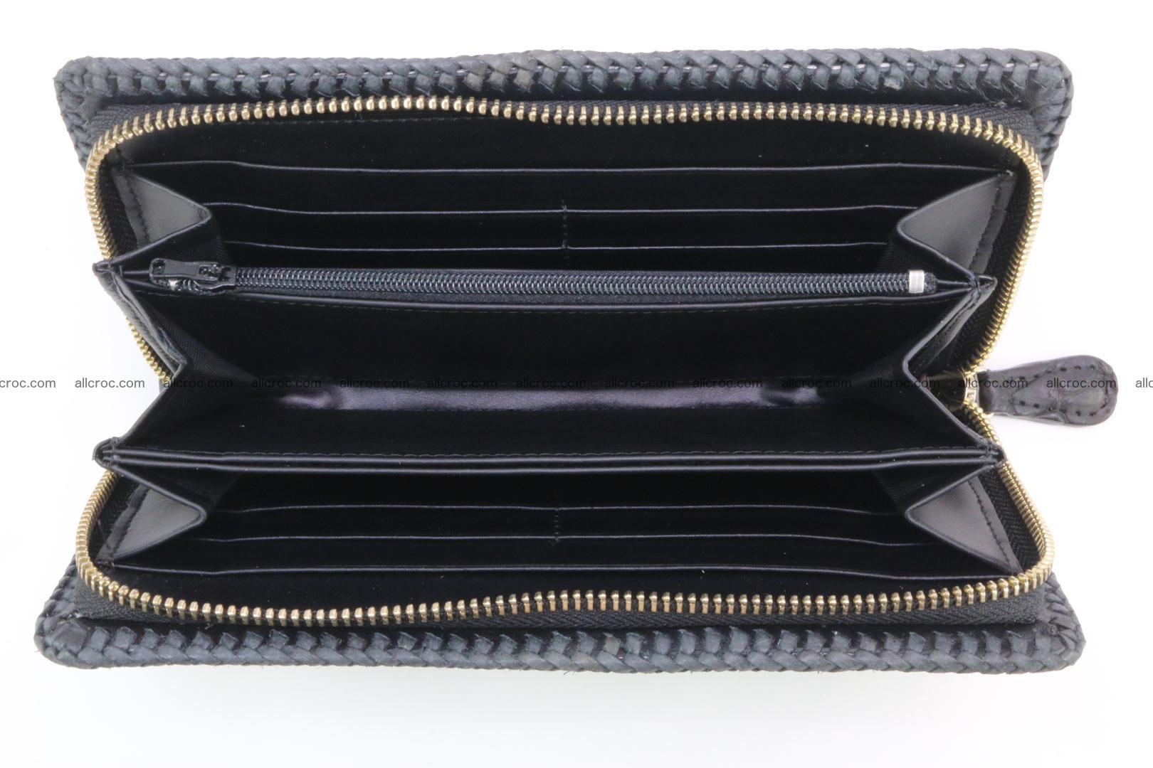 Genuine crocodile hornback wallet with zip 109 Foto 6