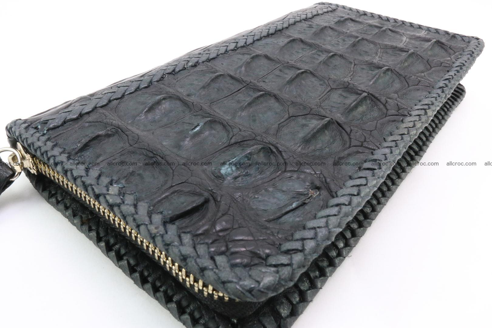 Genuine crocodile hornback wallet with zip 099 Foto 11
