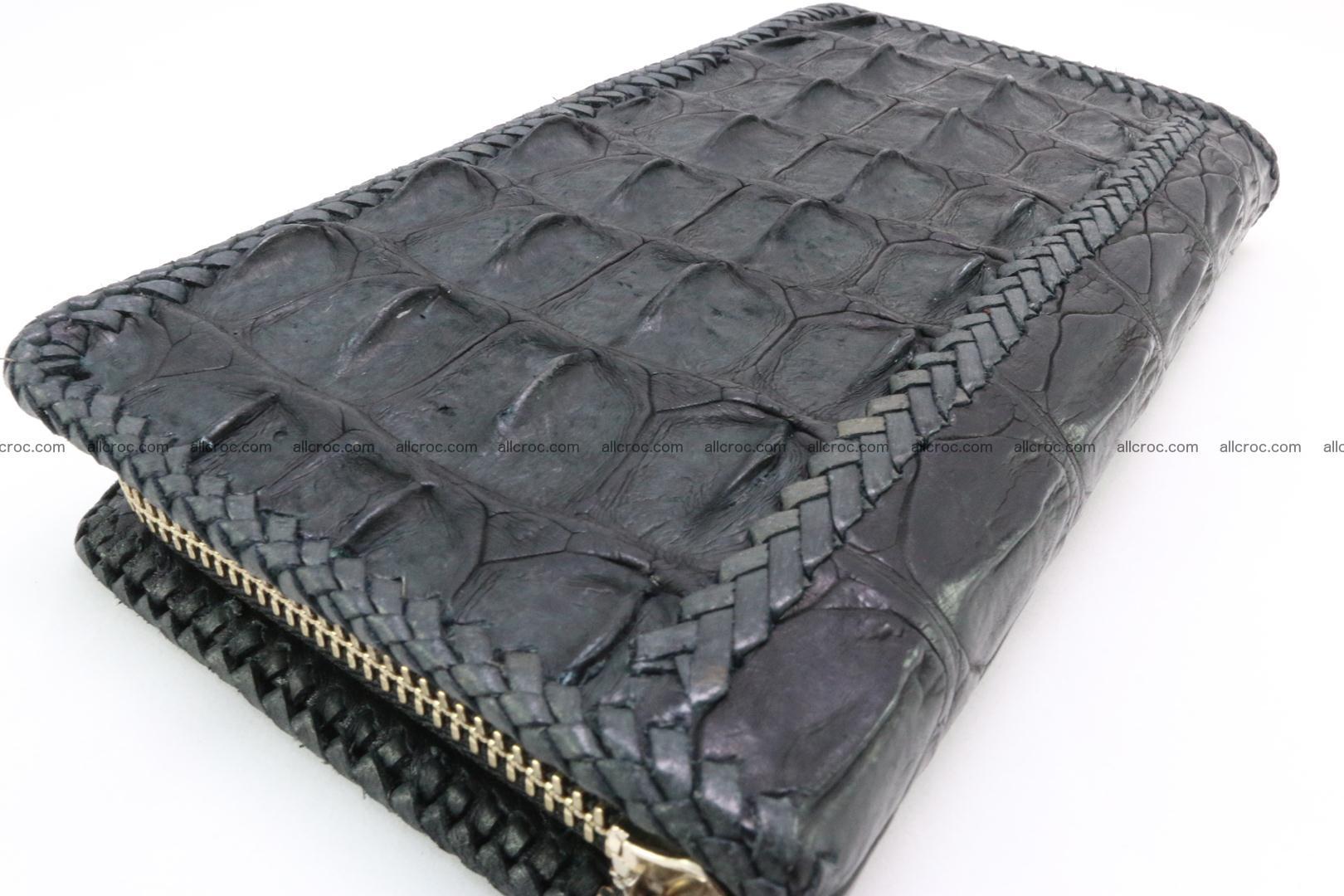 Genuine crocodile hornback wallet with zip 099 Foto 10