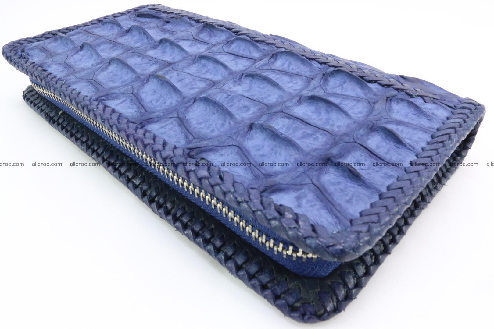 Genuine crocodile hornback wallet with zip 101 Foto 9