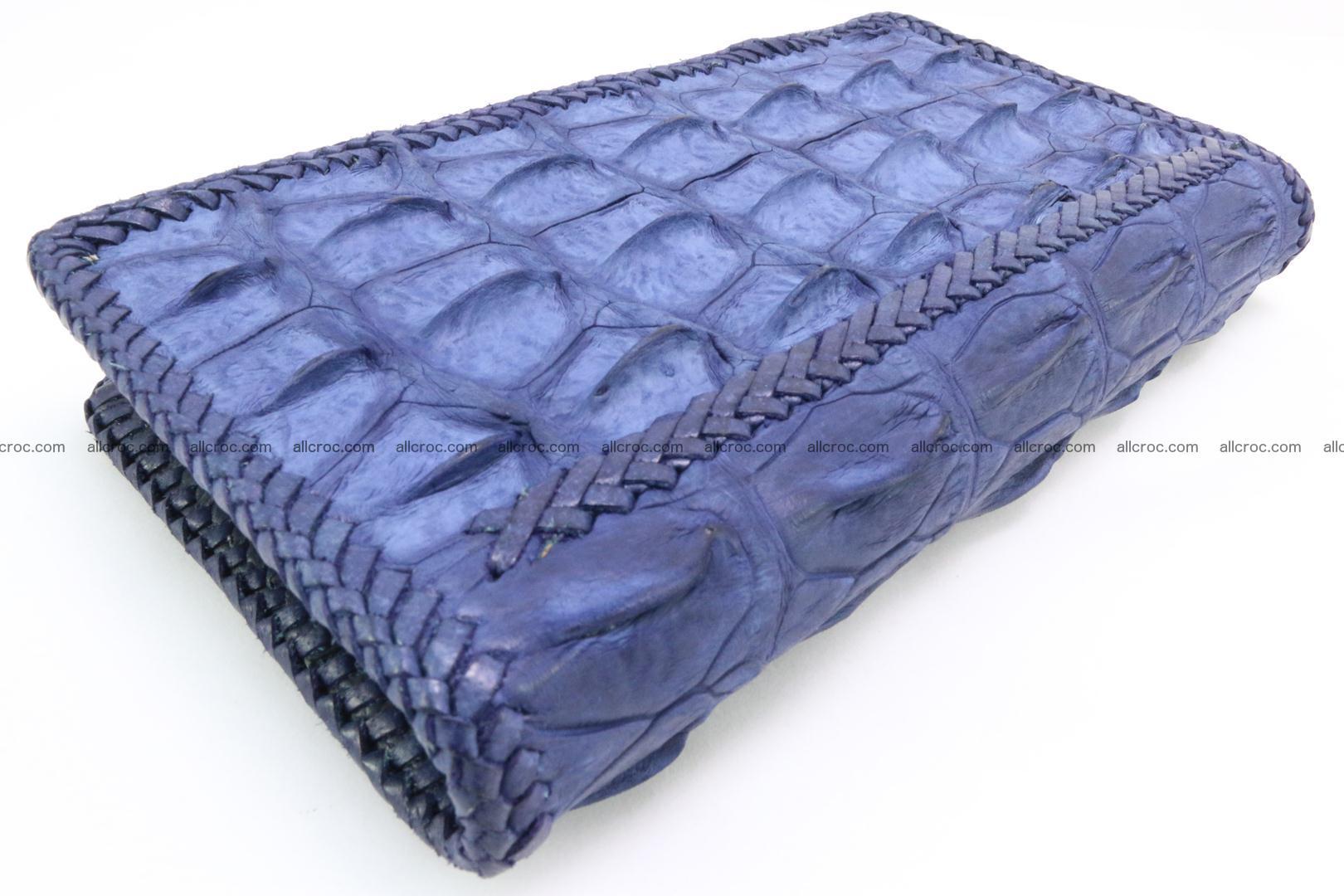 Genuine crocodile hornback wallet with zip 101 Foto 10