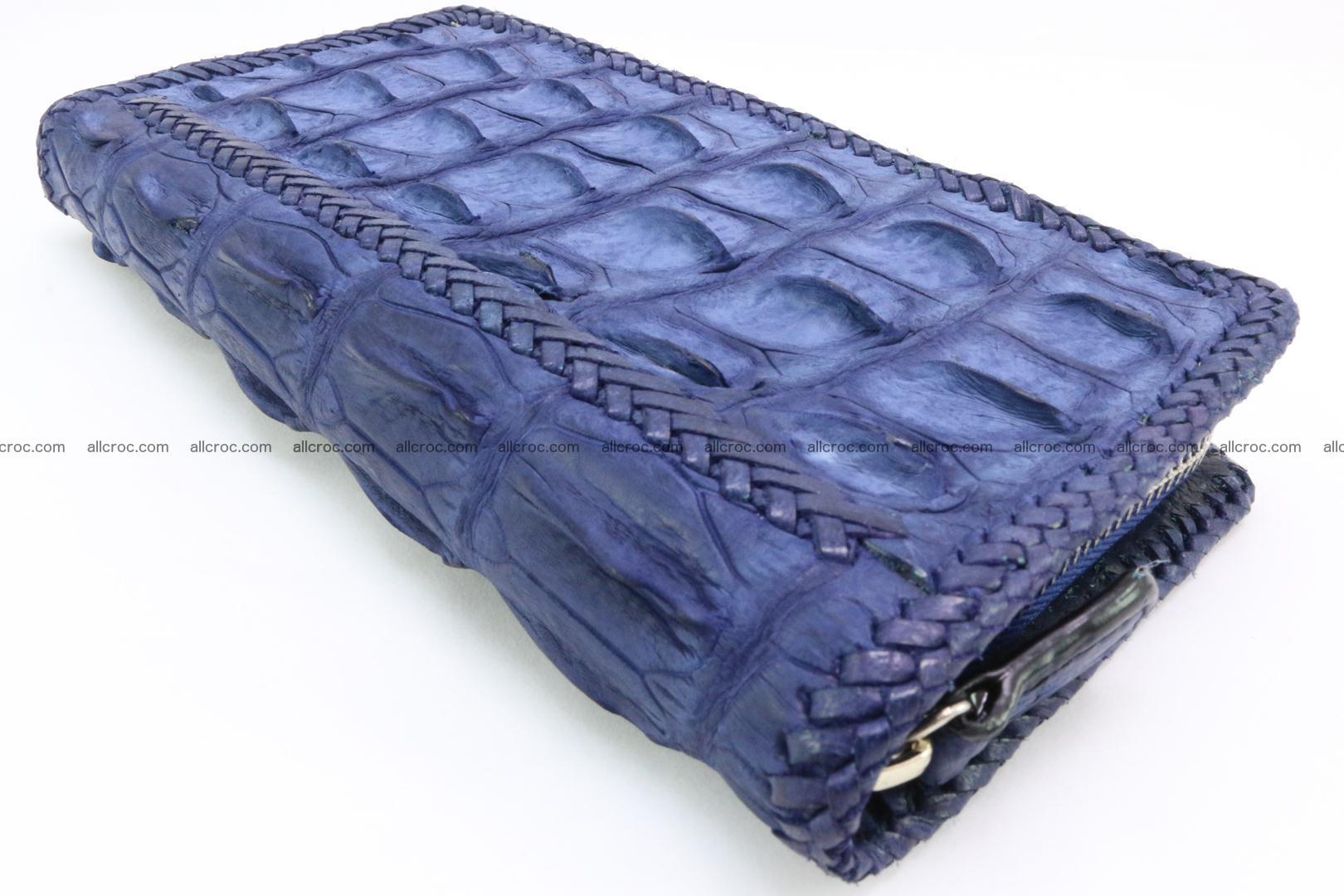 Genuine crocodile hornback wallet with zip 101 Foto 11