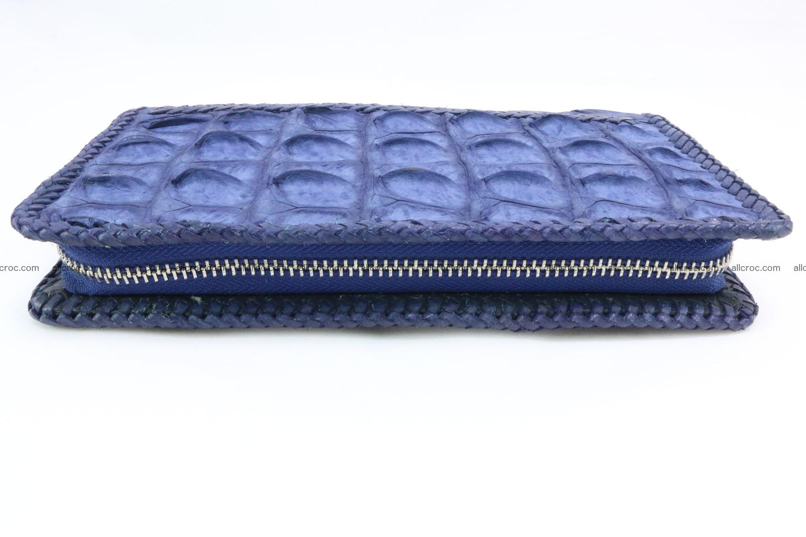Genuine crocodile hornback wallet with zip 101 Foto 8