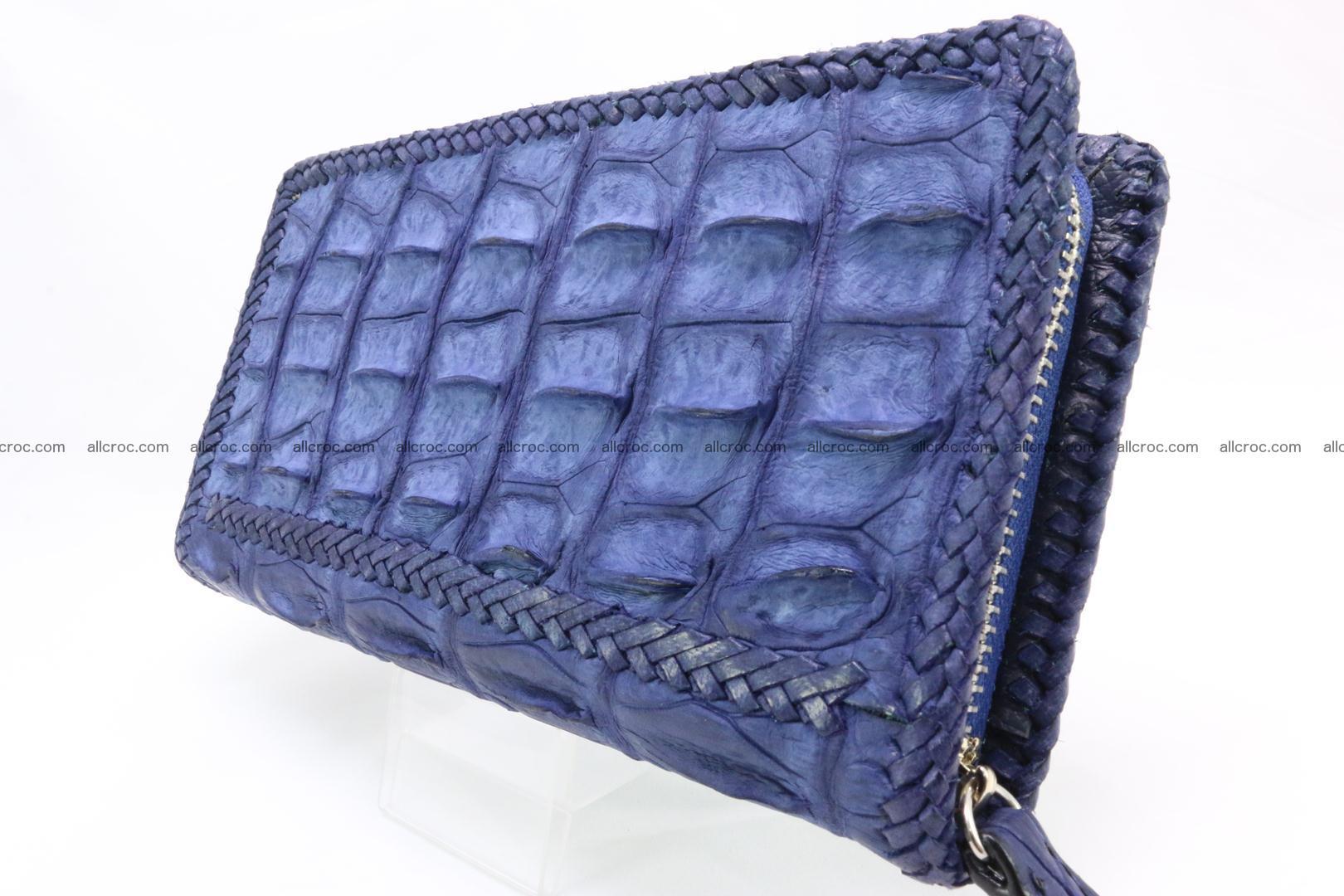 Genuine crocodile hornback wallet with zip 101 Foto 4