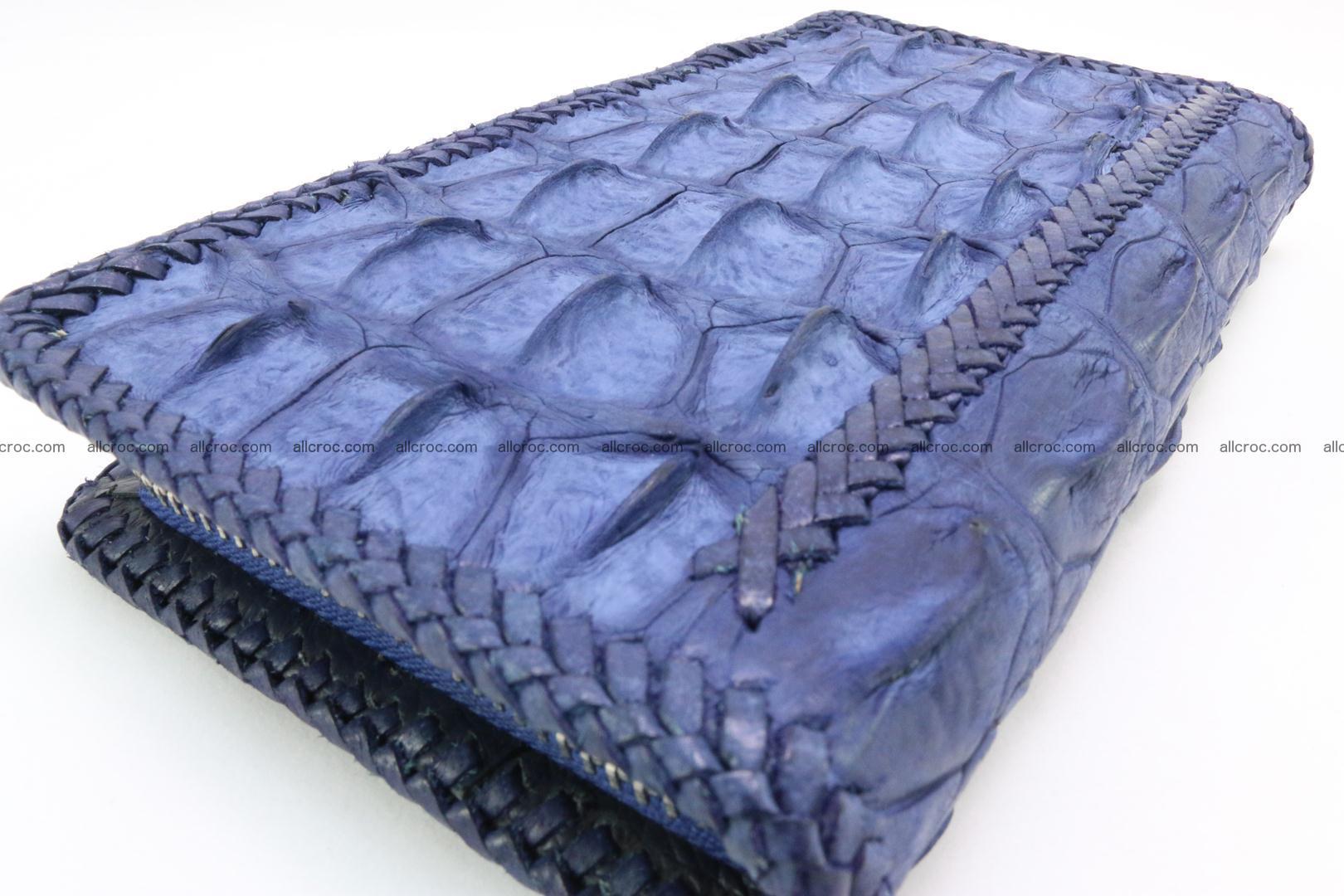Genuine crocodile hornback wallet with zip 101 Foto 6