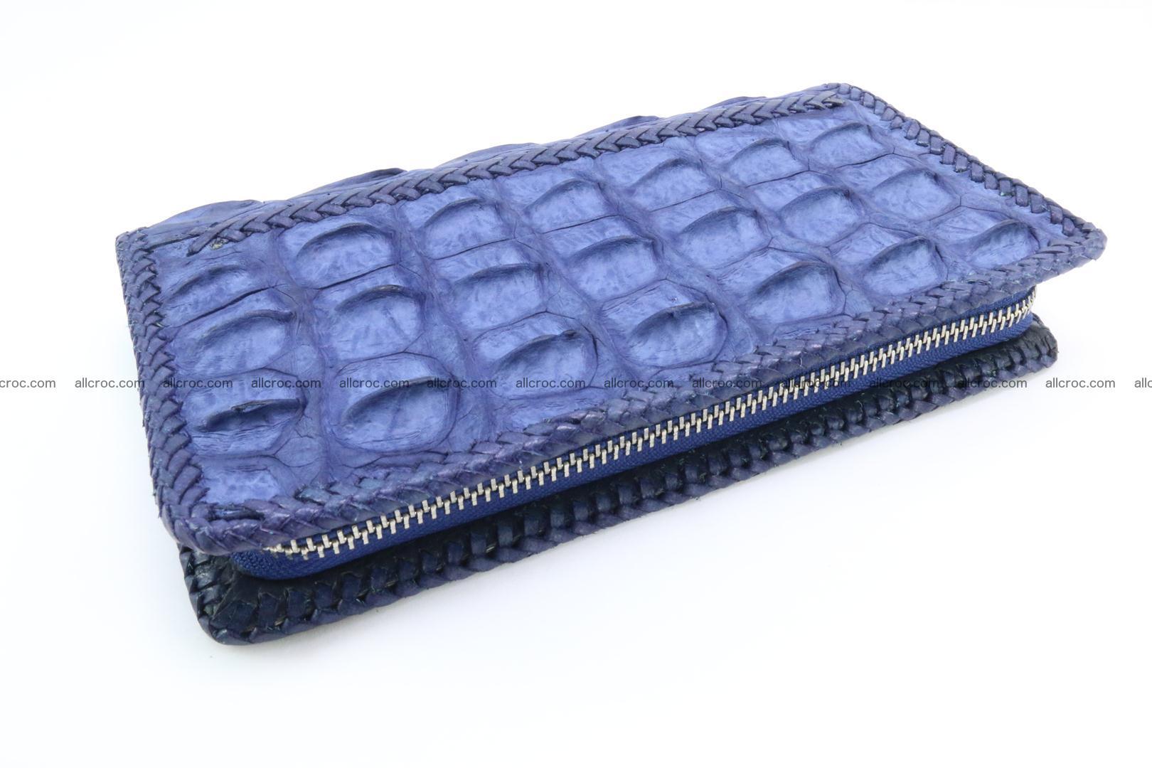 Genuine crocodile hornback wallet with zip 101 Foto 7