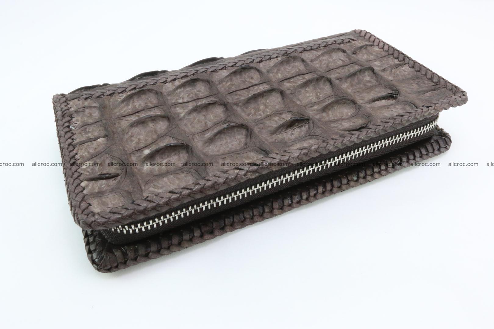 Genuine crocodile hornback wallet with zip 100 Foto 7
