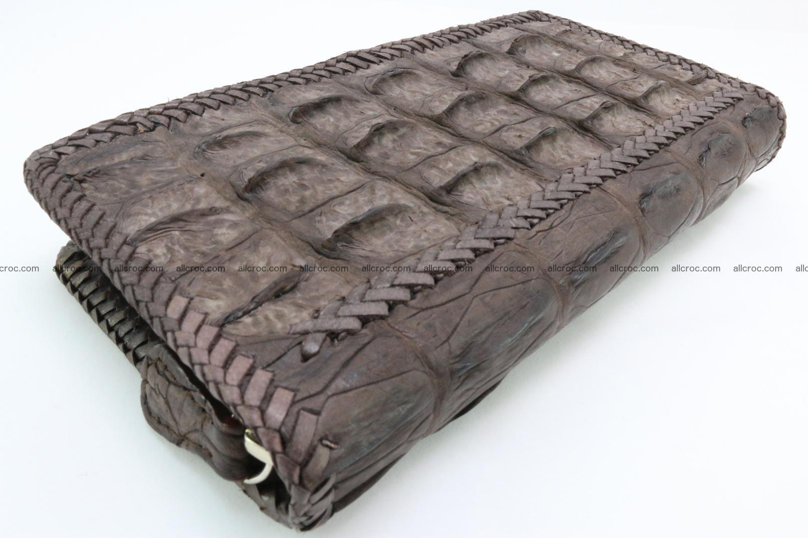 Genuine crocodile hornback wallet with zip 100 Foto 3