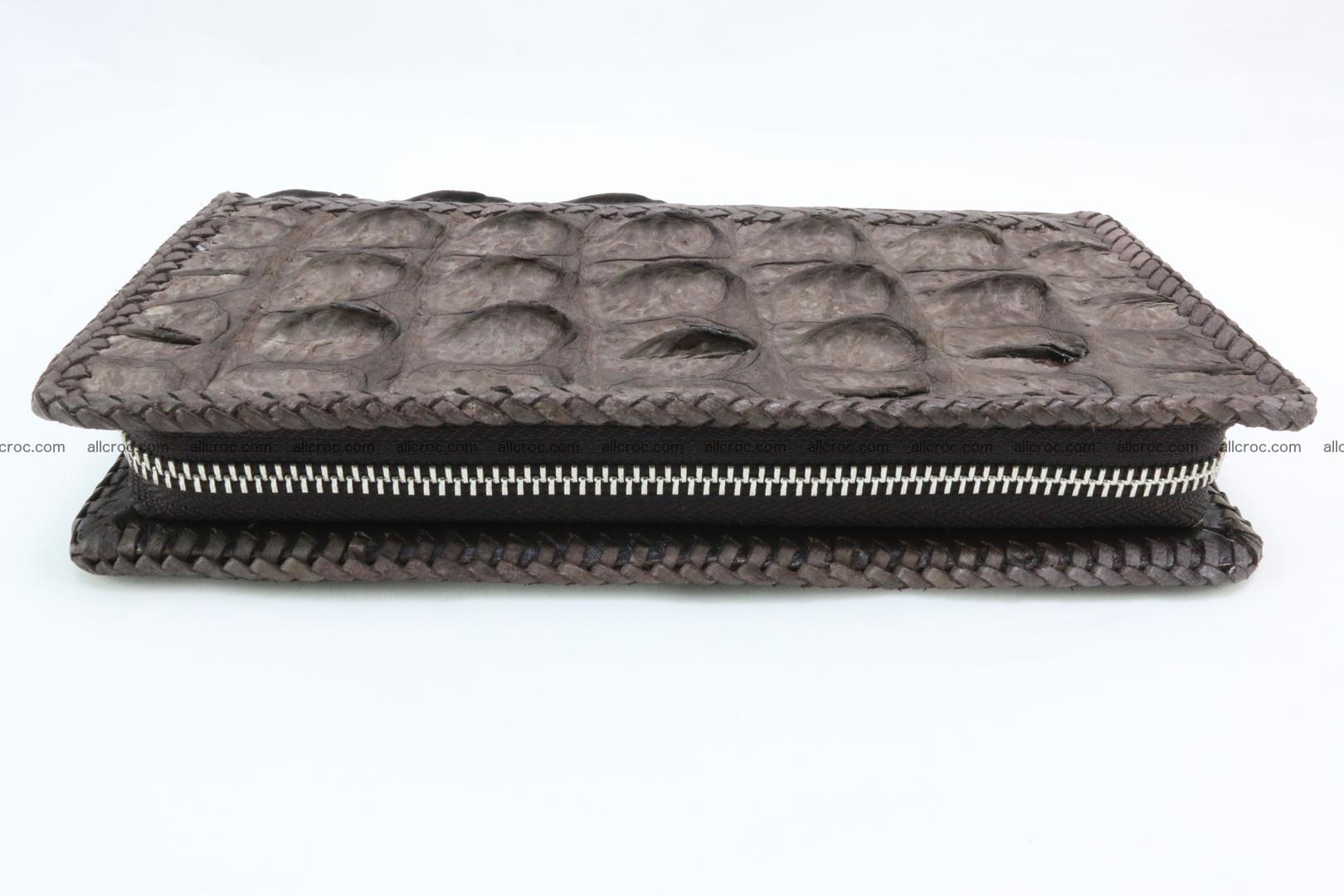 Genuine crocodile hornback wallet with zip 100 Foto 10