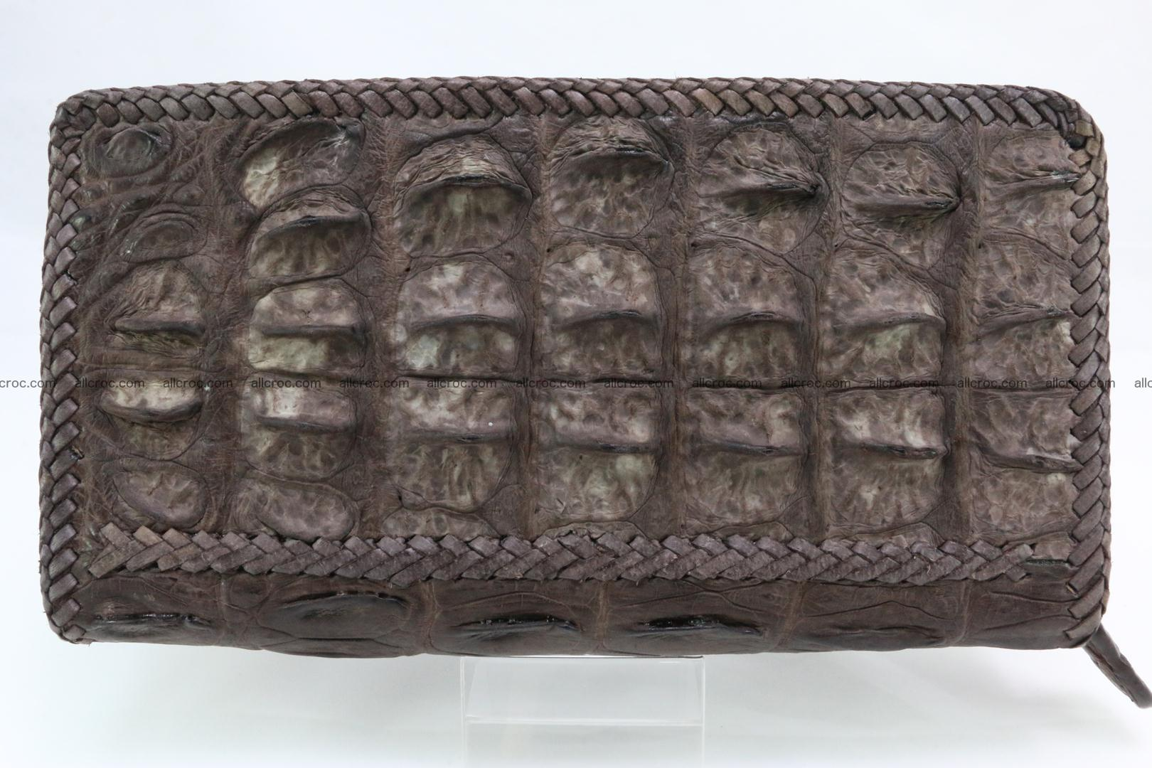 Genuine crocodile hornback wallet with zip 100 Foto 4