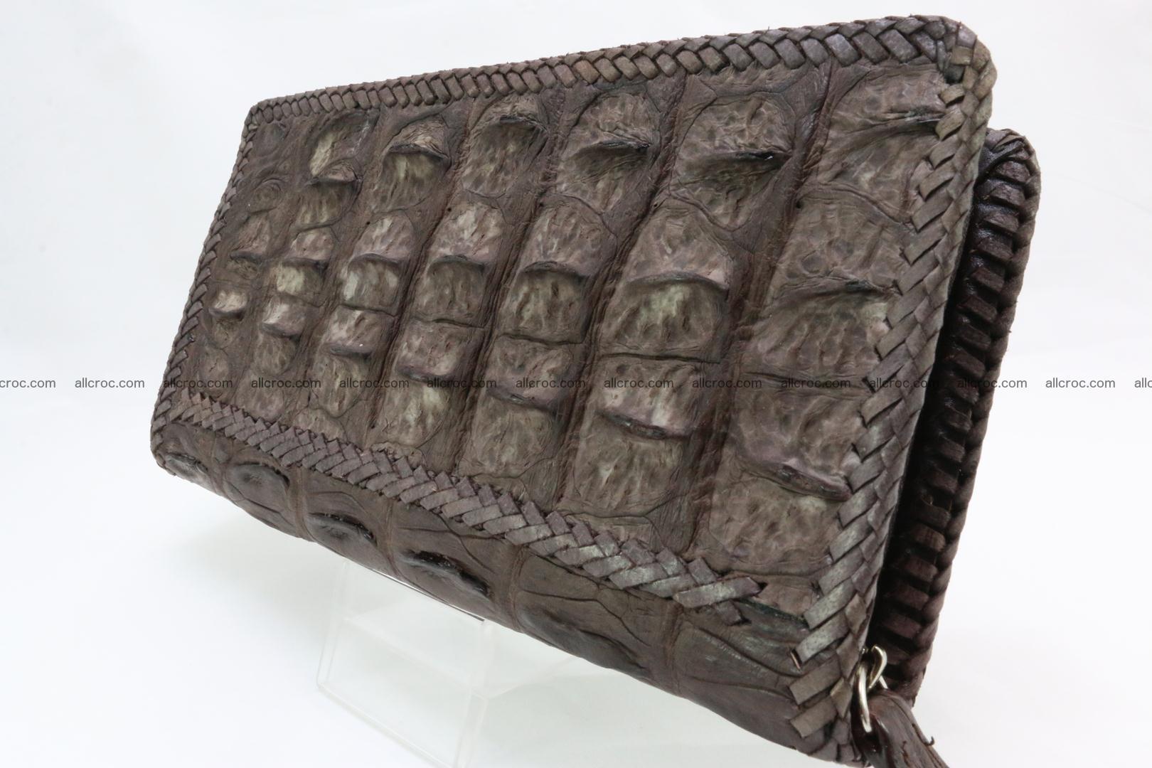 Genuine crocodile hornback wallet with zip 100 Foto 2