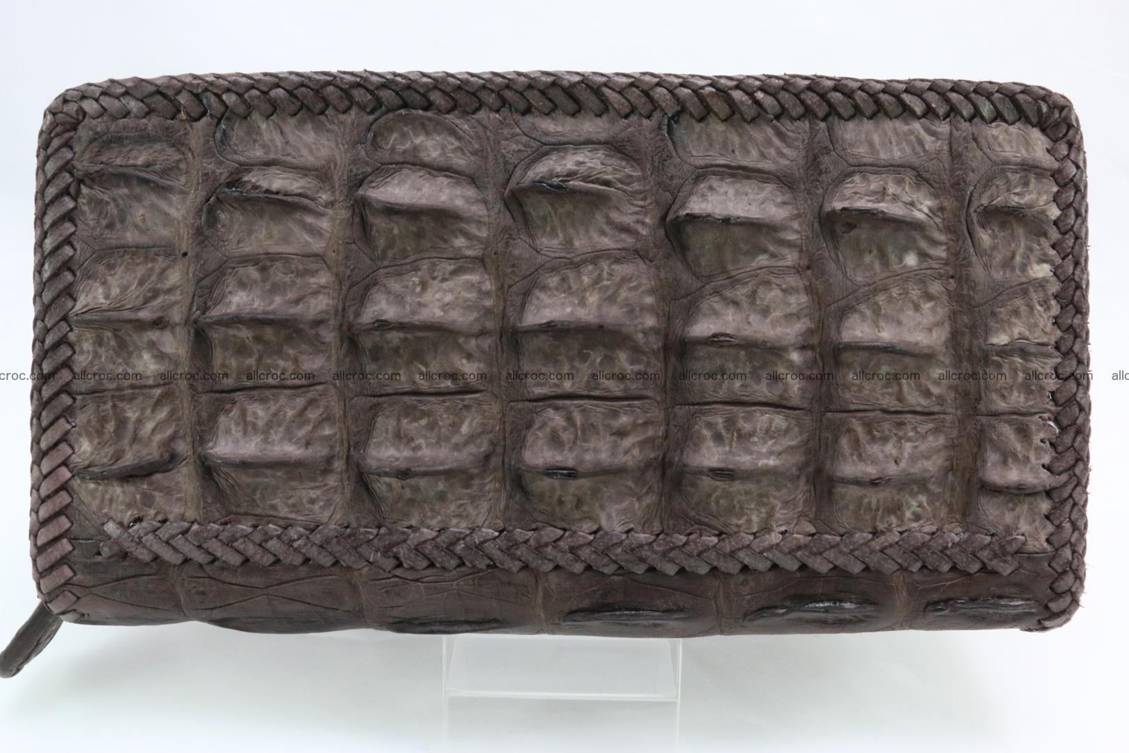 Genuine crocodile hornback wallet with zip 100 Foto 5