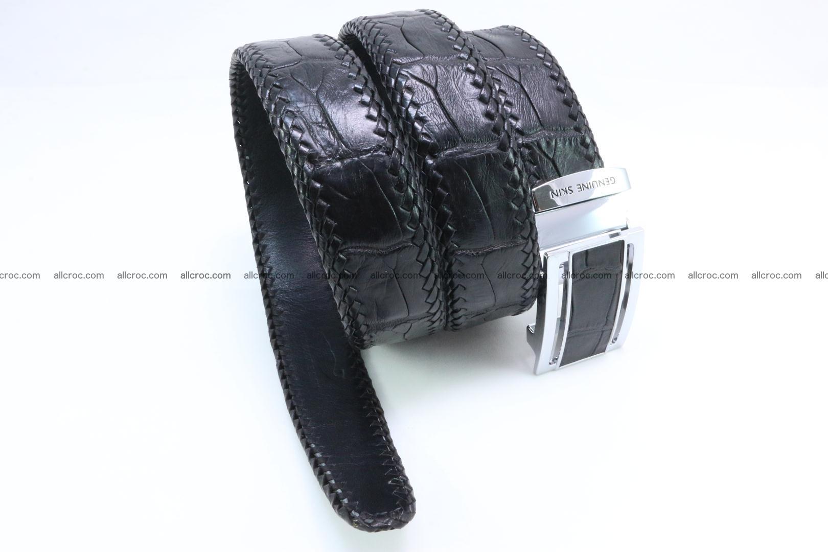 Genuine crocodile leather belt with handmade 025 Foto 2