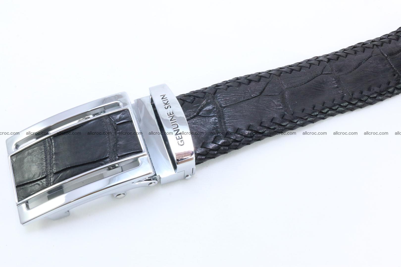 Genuine crocodile leather belt with handmade 025 Foto 3