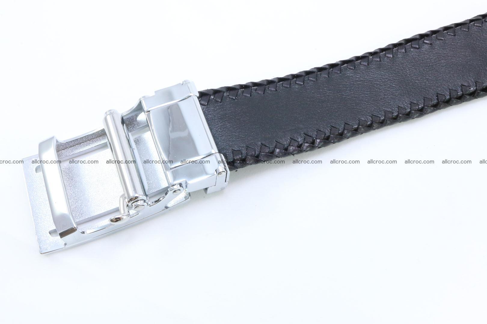 Genuine crocodile leather belt with handmade 025 Foto 4