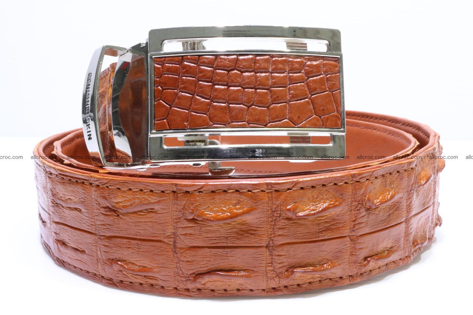 Genuine Crocodile leather double row Hornback belt 007 Foto 0