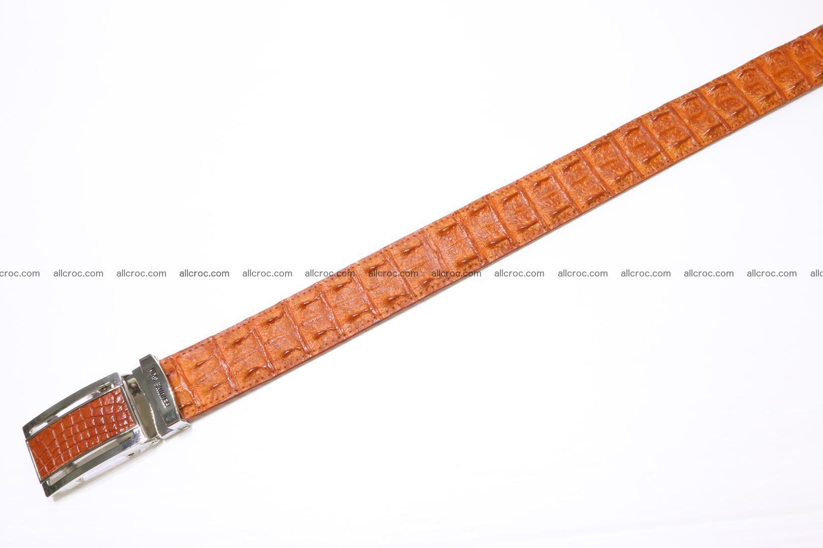 Genuine Crocodile leather double row Hornback belt 007 Foto 2