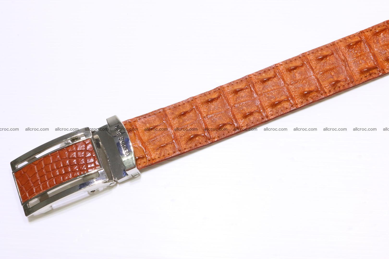 Genuine Crocodile leather double row Hornback belt 007 Foto 4
