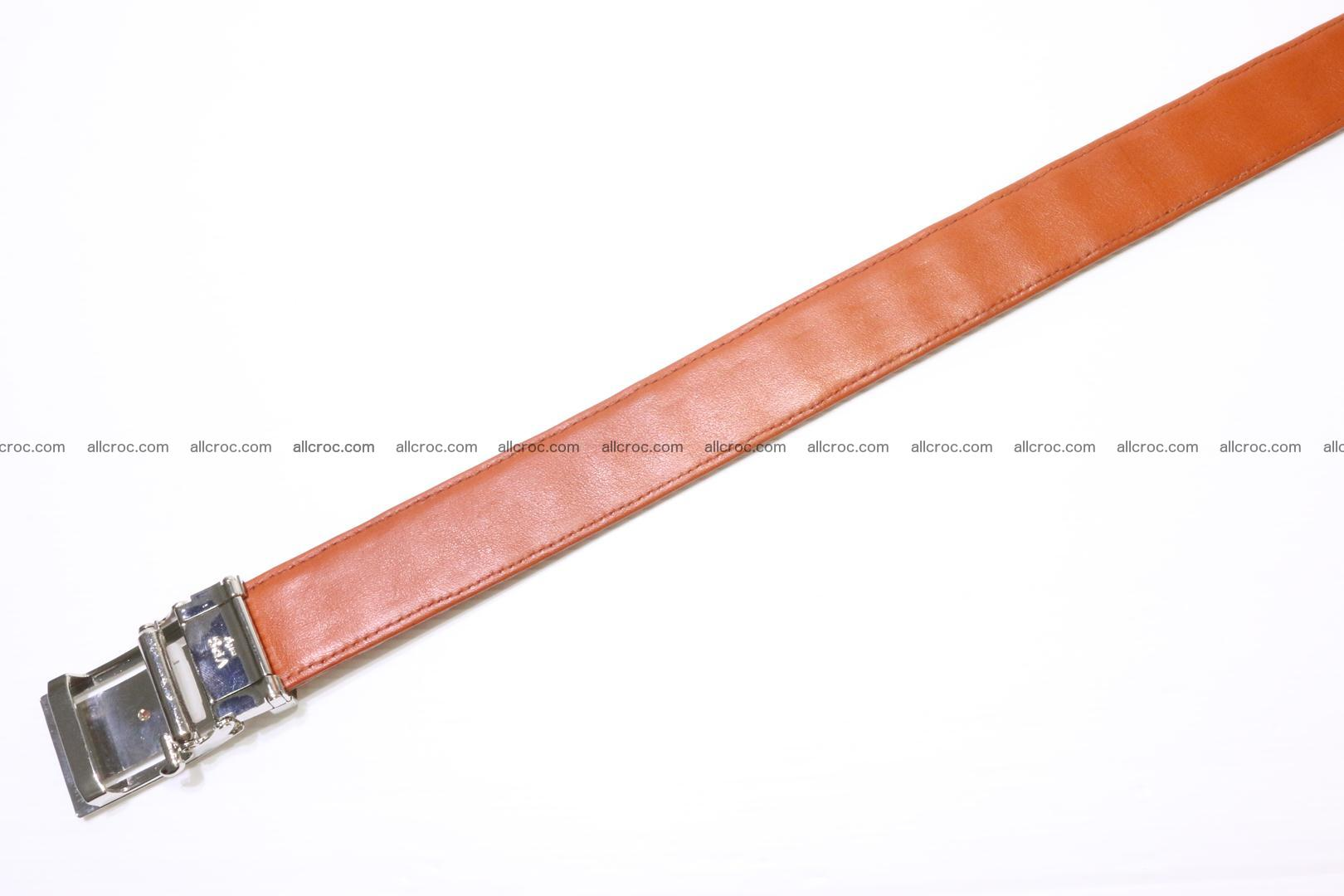 Genuine Crocodile leather double row Hornback belt 007 Foto 3