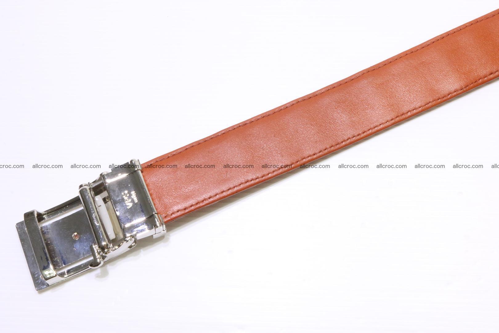 Genuine Crocodile leather double row Hornback belt 007 Foto 5