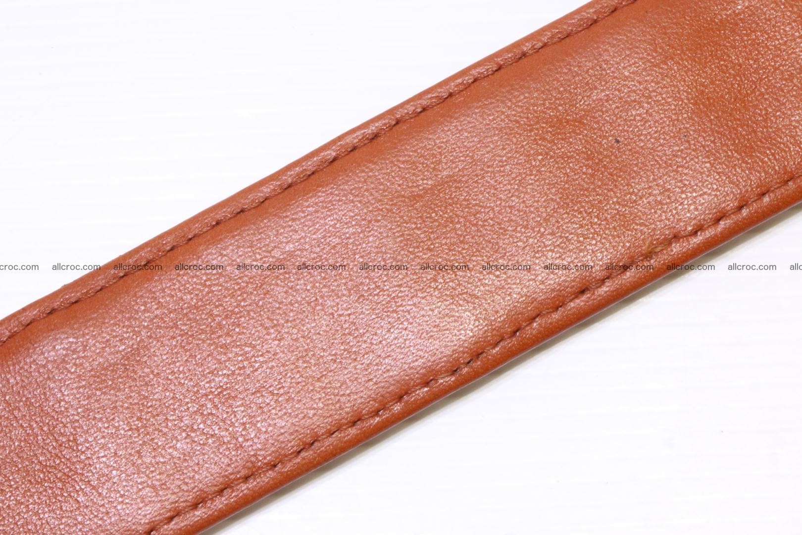 Genuine Crocodile leather double row Hornback belt 007 Foto 7