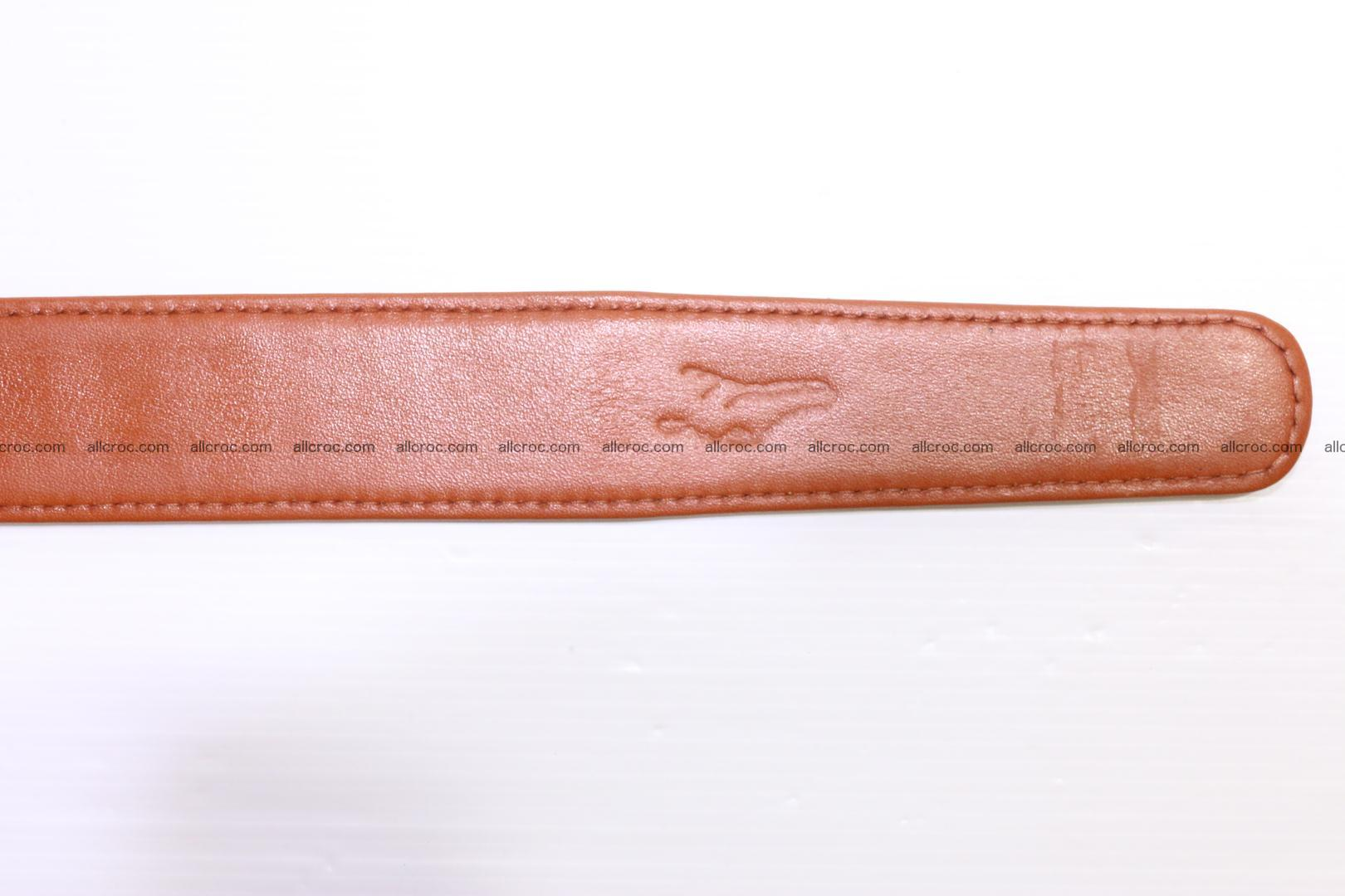 Genuine Crocodile leather double row Hornback belt 007 Foto 8