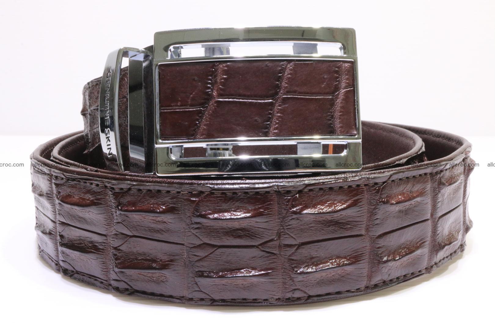 Genuine Crocodile leather double row Hornback belt 008 Foto 0