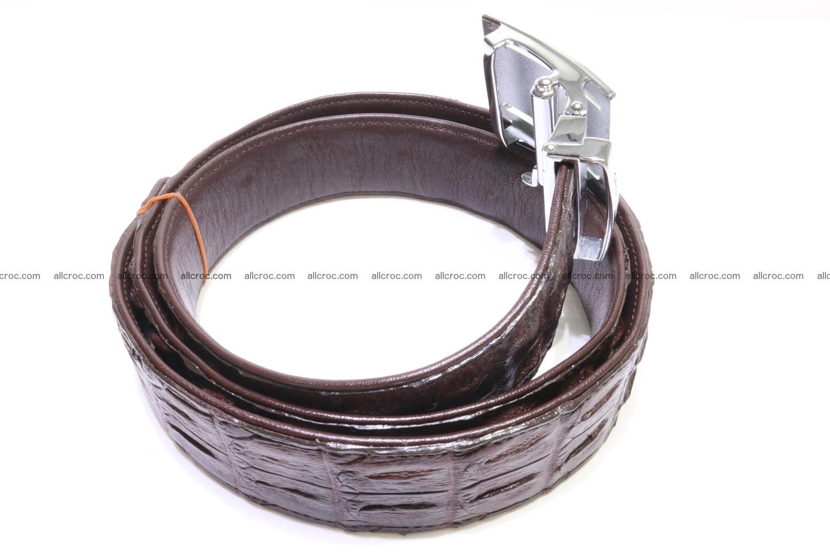 Genuine Crocodile leather double row Hornback belt 008 Foto 1