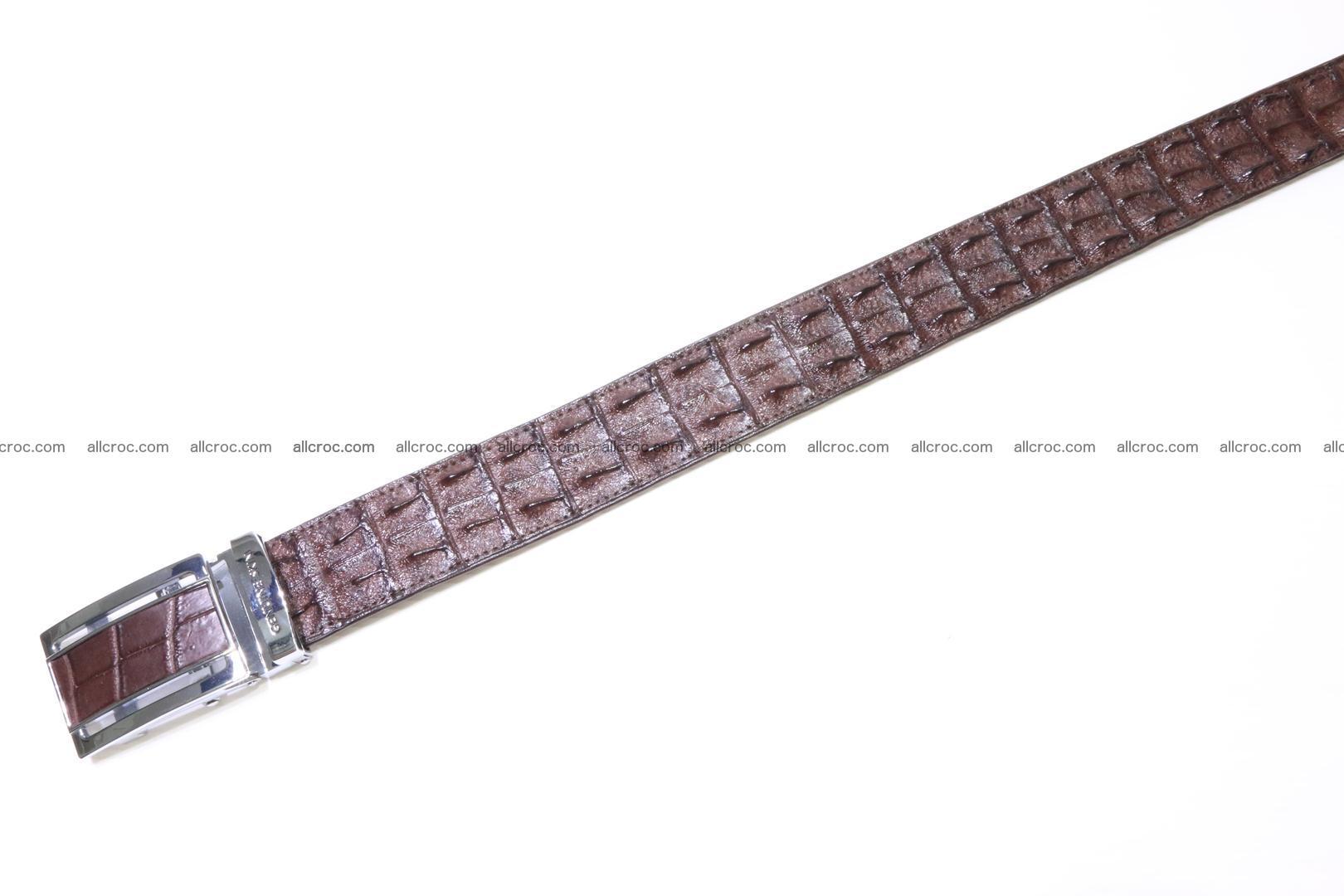 Genuine Crocodile leather double row Hornback belt 008 Foto 2