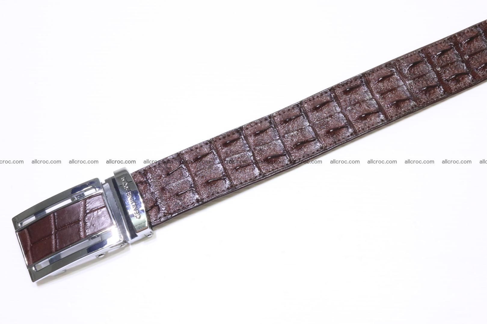Genuine Crocodile leather double row Hornback belt 008 Foto 4