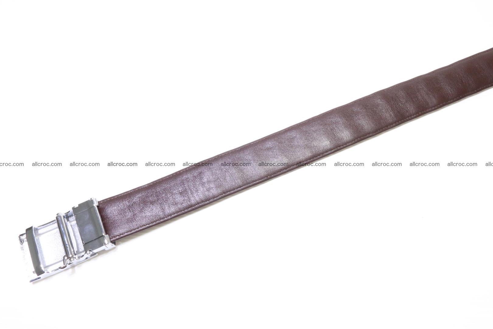Genuine Crocodile leather double row Hornback belt 008 Foto 3