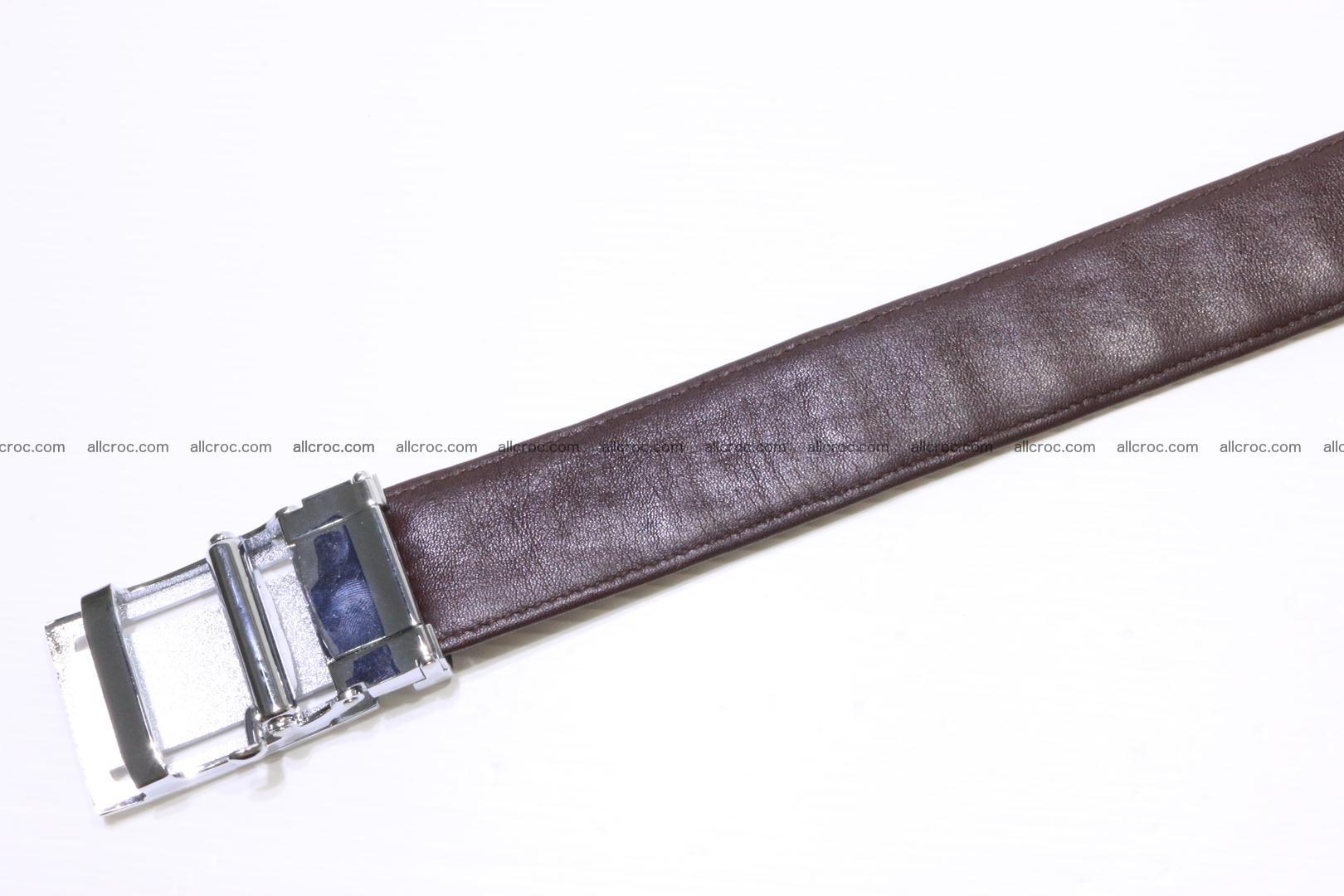 Genuine Crocodile leather double row Hornback belt 008 Foto 5