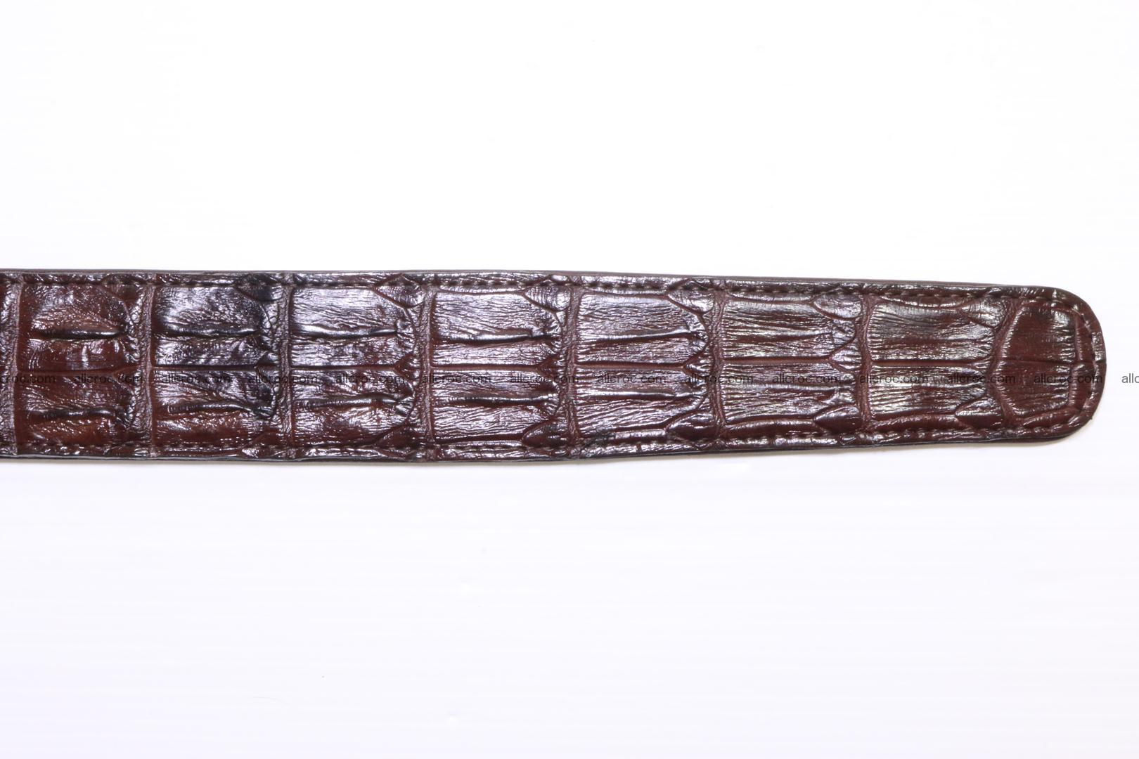 Genuine Crocodile leather double row Hornback belt 008 Foto 9