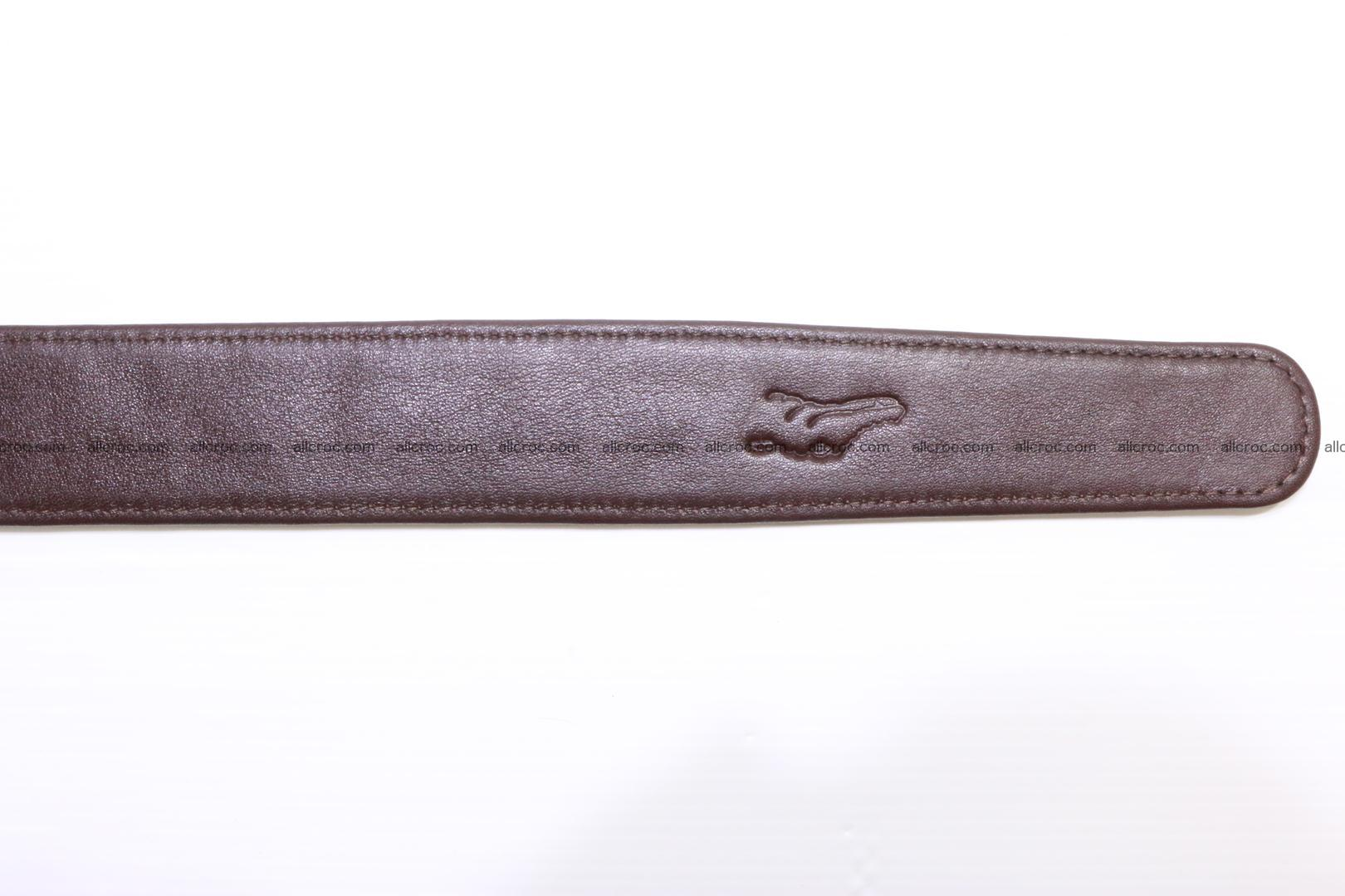 Genuine Crocodile leather double row Hornback belt 008 Foto 8