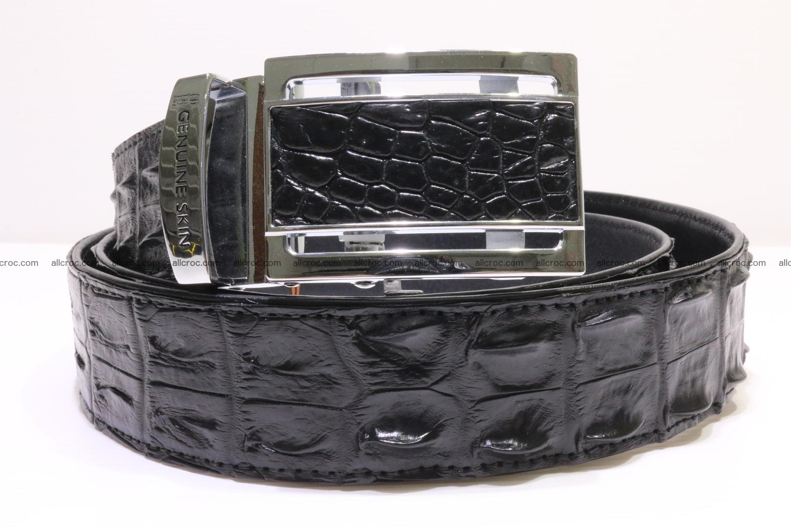 Crocodile leather double row Hornback belt 009 Foto 0