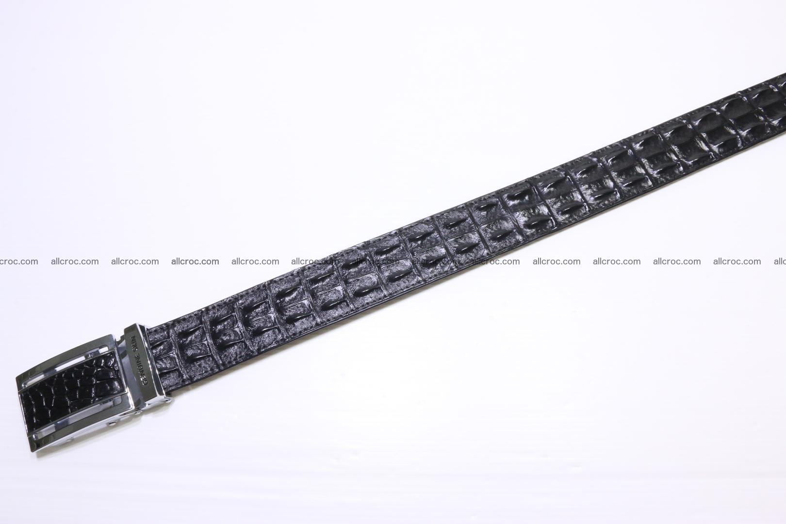 Crocodile leather double row Hornback belt 009 Foto 2