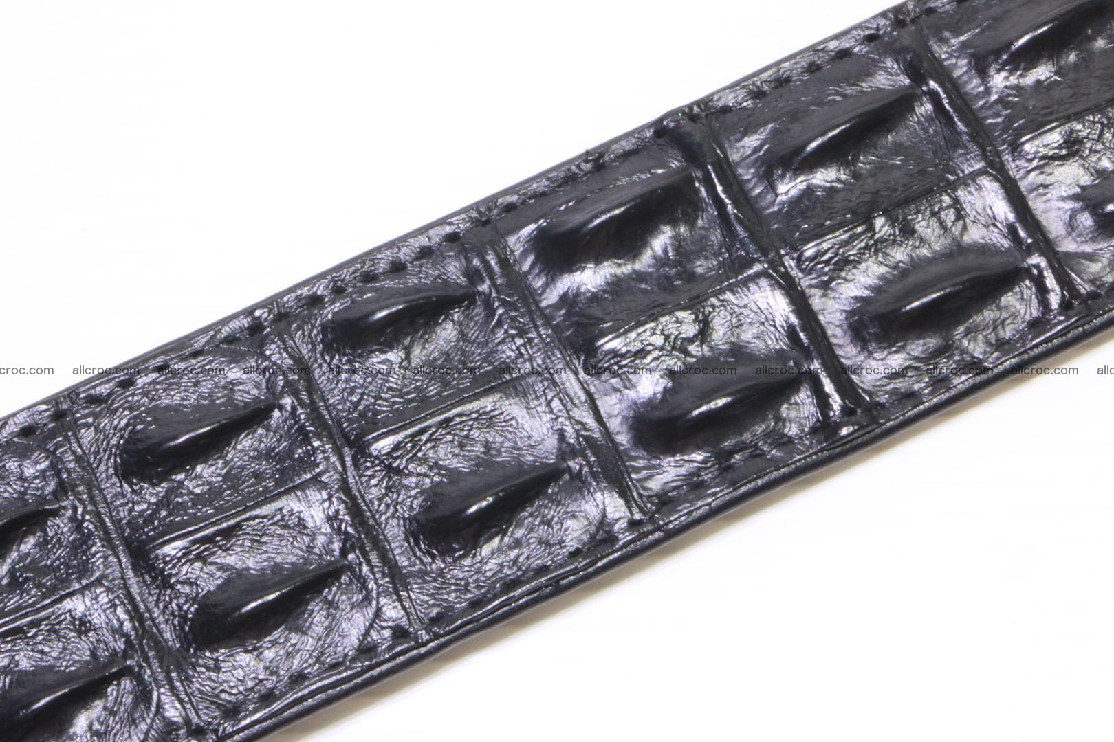Crocodile leather double row Hornback belt 009 Foto 6