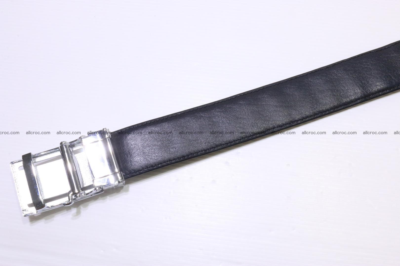 Crocodile leather double row Hornback belt 009 Foto 4