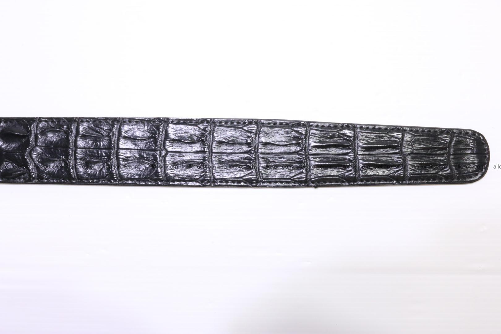Crocodile leather double row Hornback belt 009 Foto 9