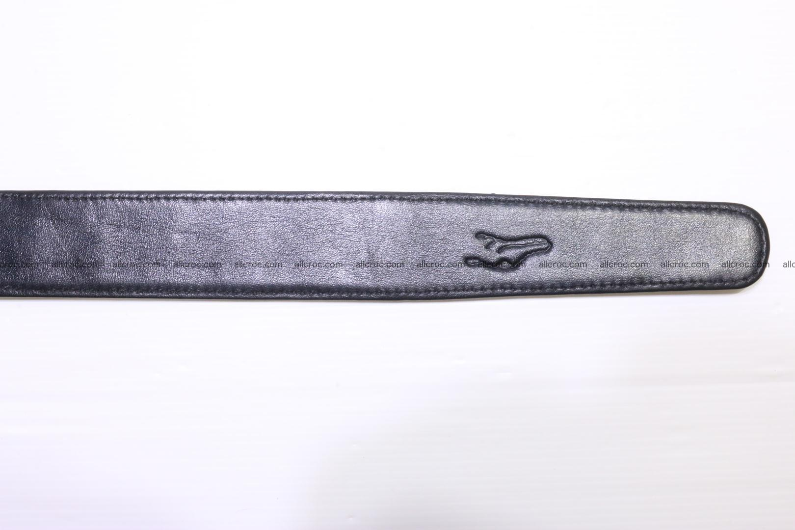 Crocodile leather double row Hornback belt 009 Foto 8