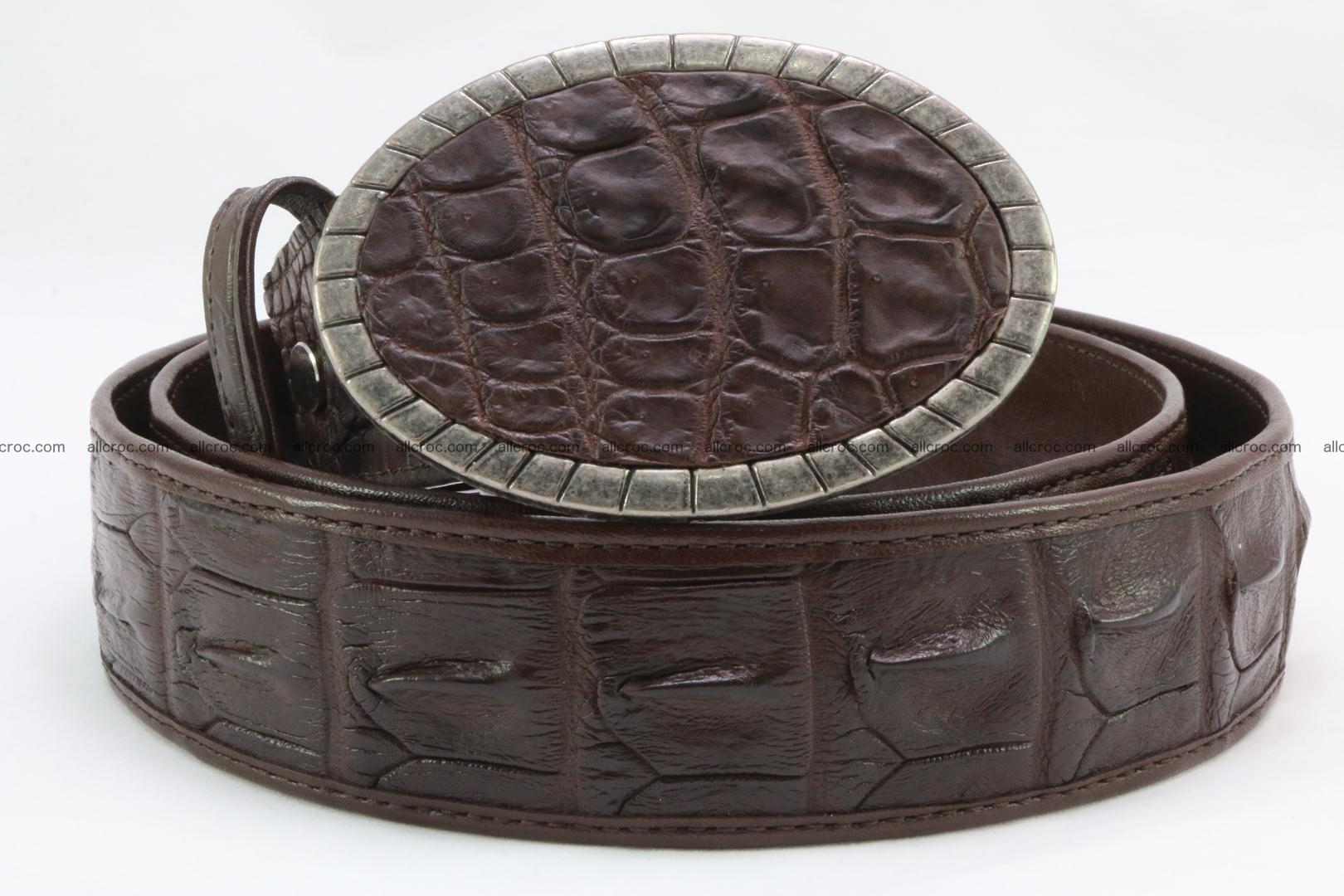 Genuine crocodile leather hornback belt 095 Foto 2