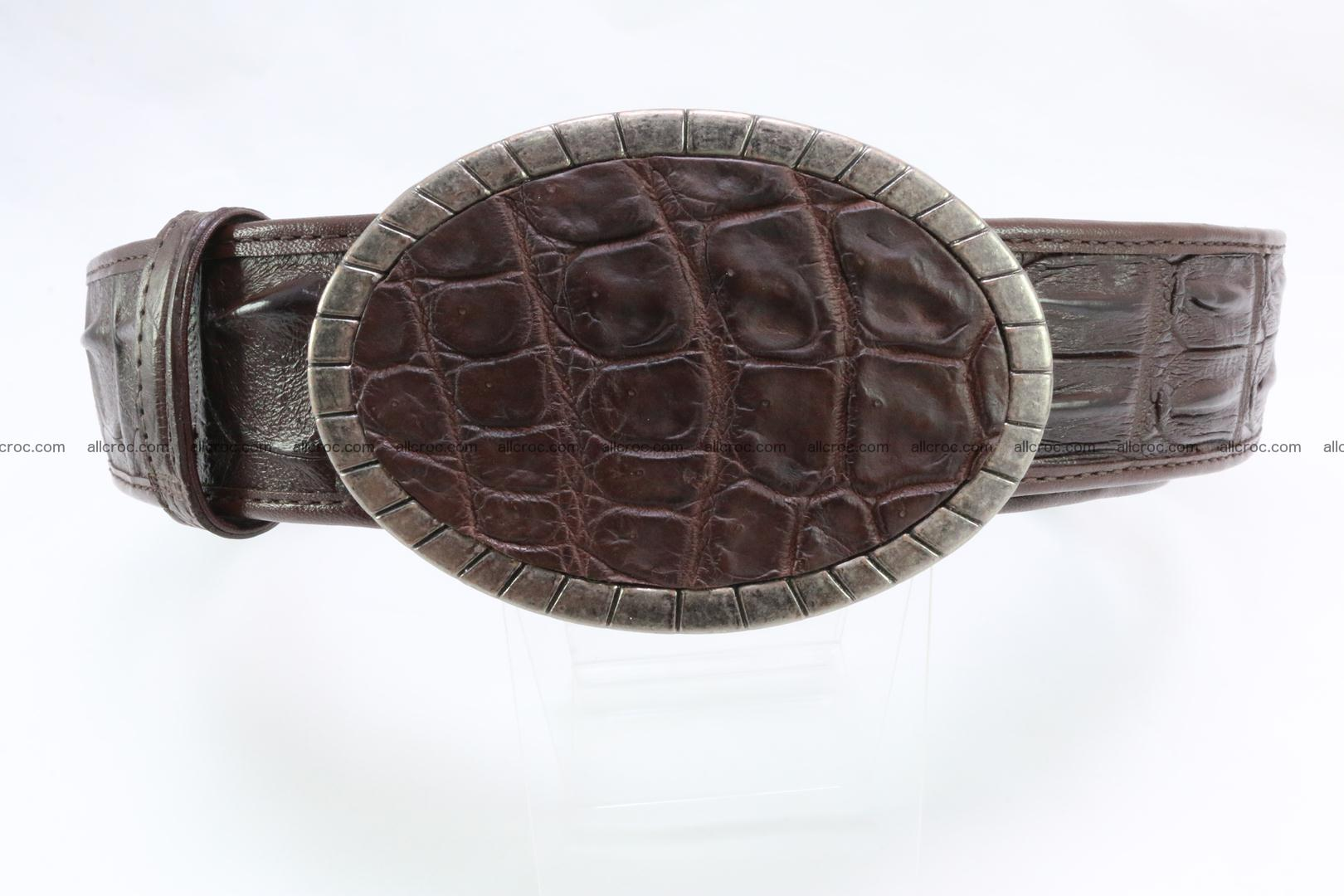 Genuine crocodile leather hornback belt 095 Foto 0