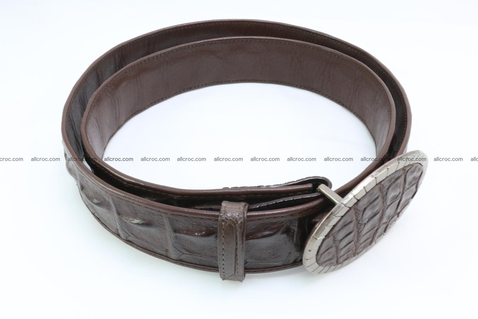 Genuine crocodile leather hornback belt 095 Foto 1