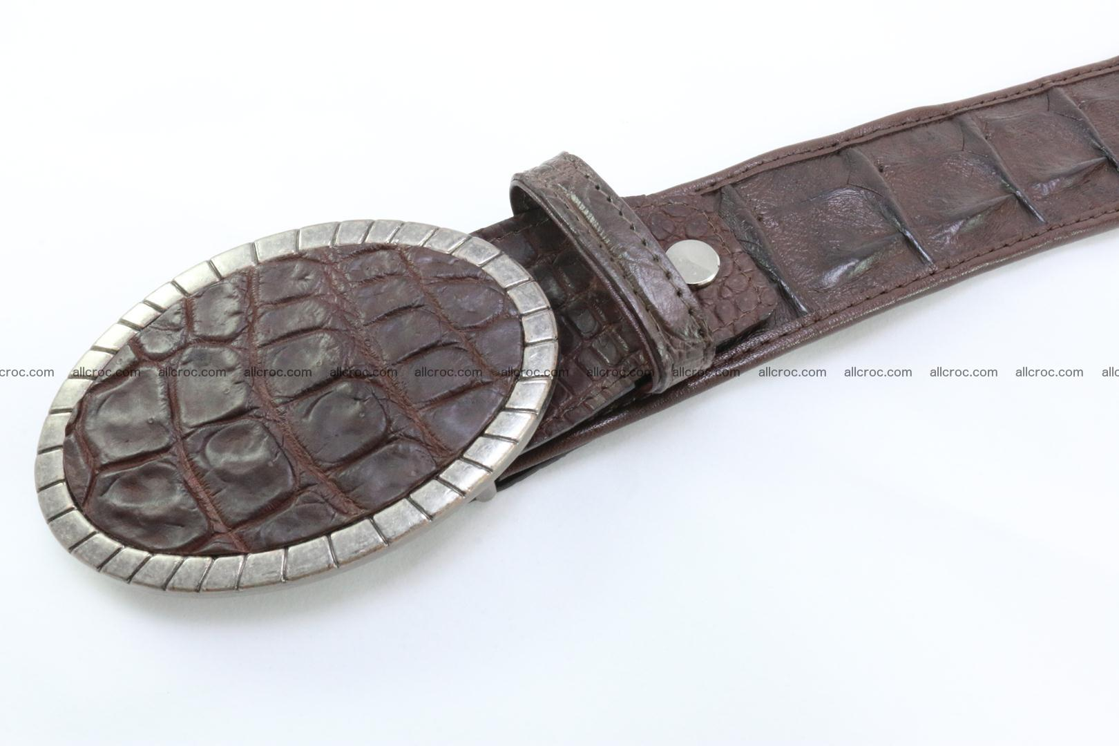Genuine crocodile leather hornback belt 095 Foto 3