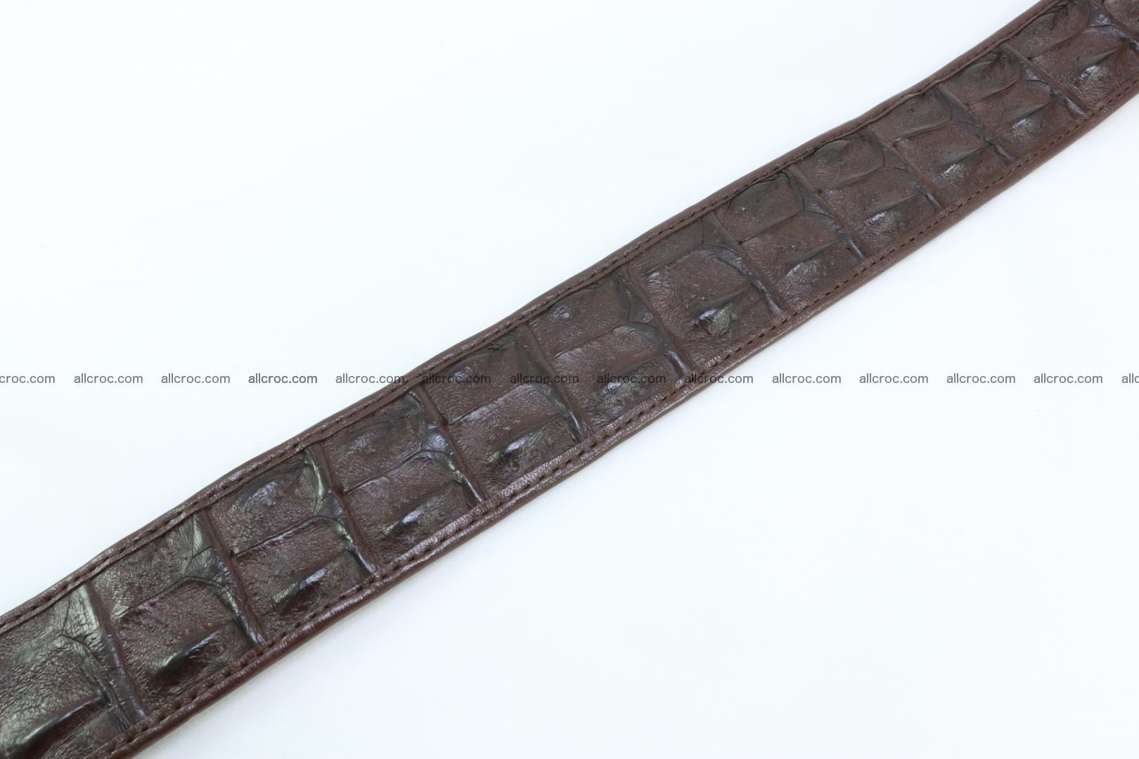 Genuine crocodile leather hornback belt 080 Foto 5