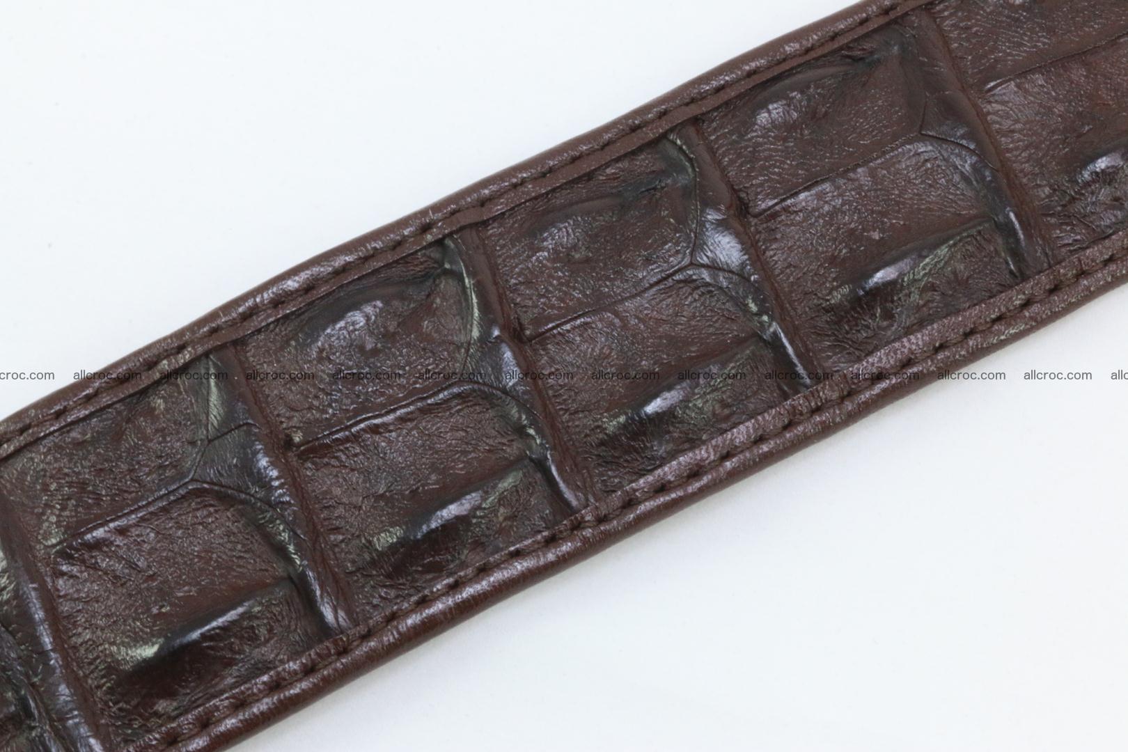 Genuine crocodile leather hornback belt 076 Foto 8